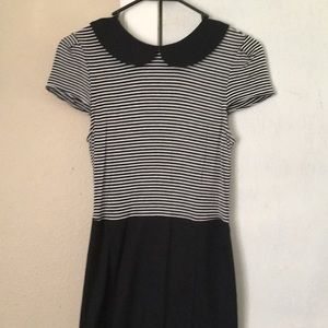 Black and white Peter Pan collar dress